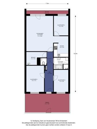 Floorplan - Sam van Houtenstraat 185C, 1067 JG Amsterdam