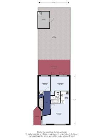 Floorplan - Stuyvesantstraat 32hs, 1058 AM Amsterdam