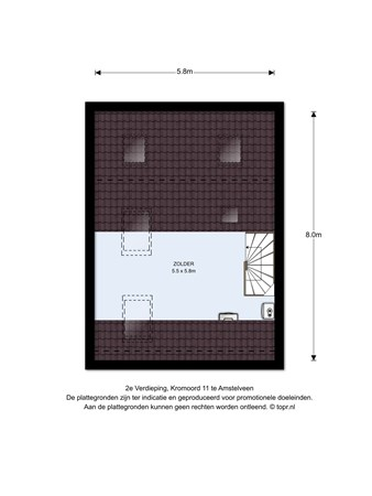 Floorplan - Kromoord 11, 1188 JG Amstelveen