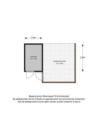 Floorplan - Mikonospad 19, 1060 RH Amsterdam