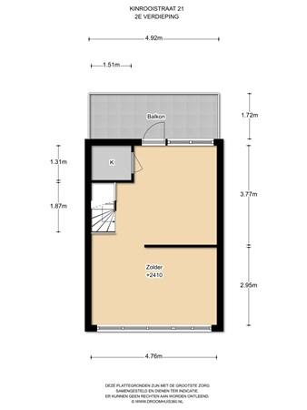 Floorplan - Kinrooistraat 21, 1066 LB Amsterdam