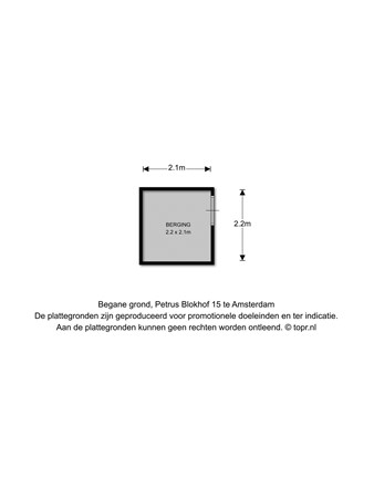 Floorplan - Petrus Blokhof 15I, 1065 XK Amsterdam