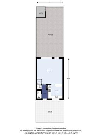 Floorplan - Dahliastraat 8, 1171 WN Badhoevedorp