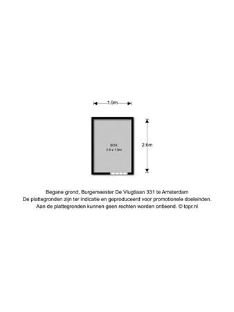 Floorplan - Burgemeester de Vlugtlaan 331, 1063 BP Amsterdam