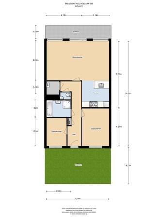 Floorplan - President Allendelaan 355, 1068 VM Amsterdam