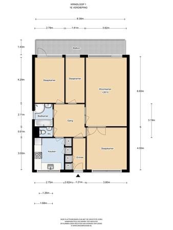 Floorplan - Kringloop 1, 1186 GR Amstelveen