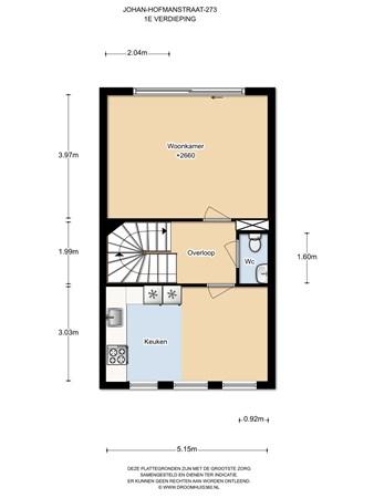 Floorplan - Johan Hofmanstraat 273, 1069 KD Amsterdam
