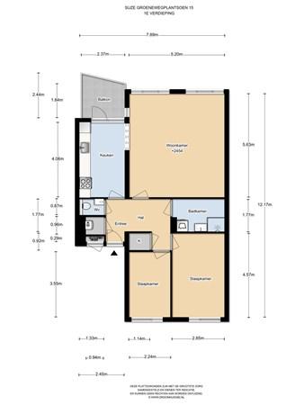Floorplan - Suze Groenewegplantsoen 15, 1067 DB Amsterdam