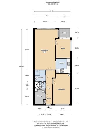 Floorplan - Osdorper Ban 90A23, 1068 MK Amsterdam