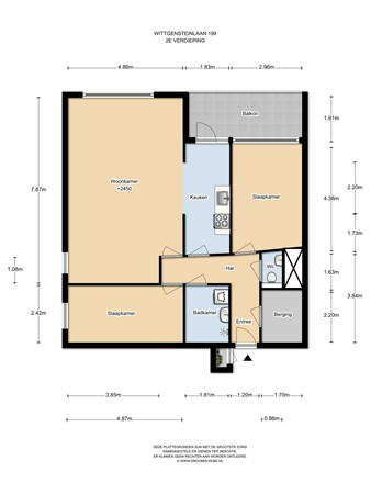 Floorplan - Wittgensteinlaan 199, 1062 KE Amsterdam