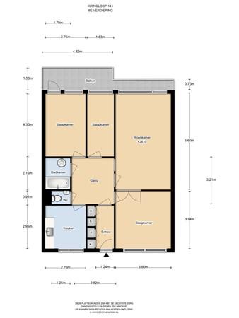 Floorplan - Kringloop 141, 1186 GV Amstelveen