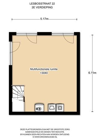 Floorplan - Lesbosstraat 22, 1060 SW Amsterdam