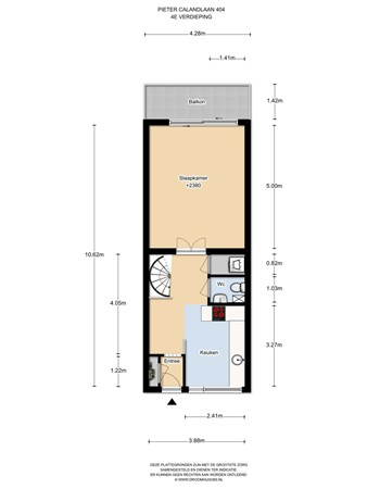 Floorplan - Pieter Calandlaan 403, 1068 NK Amsterdam