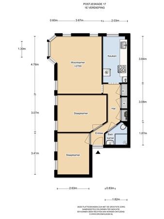 Floorplan - Postjeskade 17I, 1058 DE Amsterdam