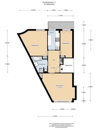 Floorplan - Korte Geuzenstraat 17bel, 1056 JZ Amsterdam