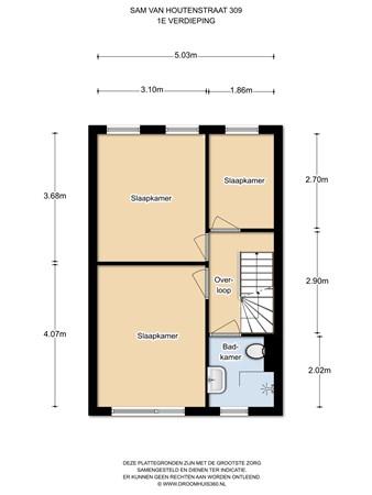 Floorplan - Sam van Houtenstraat 309, 1067 JL Amsterdam
