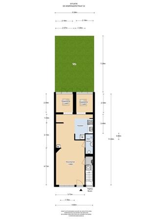 Floorplan - De Kempenaerstraat 30huis, 1051 CP Amsterdam
