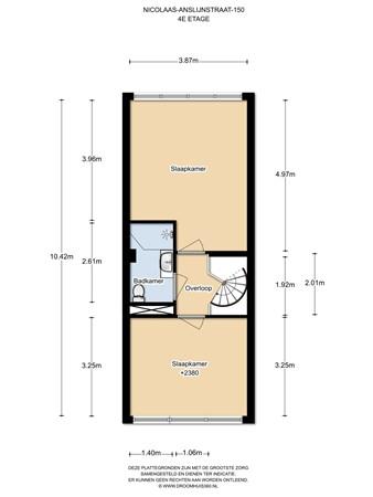 Floorplan - Nicolaas Anslijnstraat 149, 1068 WX Amsterdam