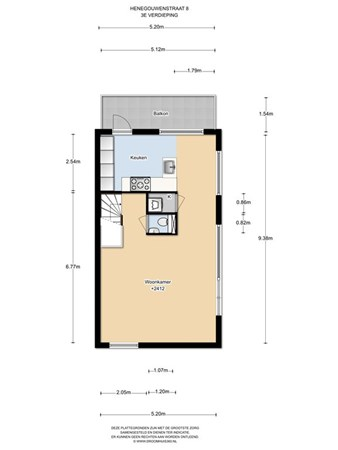 Floorplan - Henegouwenstraat 8, 1066 DG Amsterdam