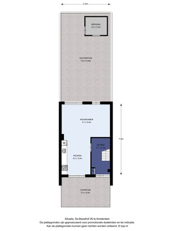 Floorplan - De Bazelhof 26, 1067 LZ Amsterdam