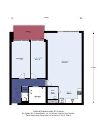 Floorplan - Rengerskerkestraat 16, 1069 HV Amsterdam