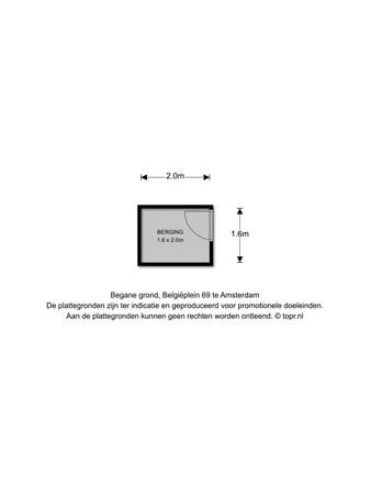 Floorplan - Belgiëplein 69, 1066 RC Amsterdam