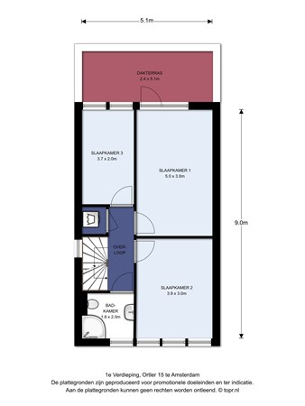 Floorplan - Ortler 15, 1060 PH Amsterdam