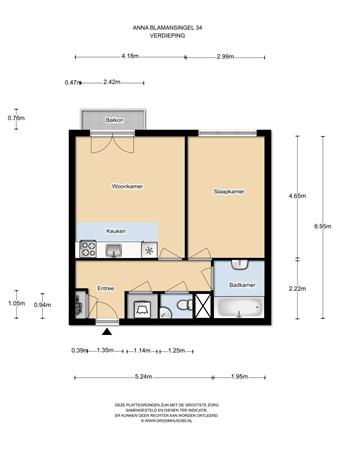 Floorplan - Anna Blamansingel 34, 1102 SR Amsterdam