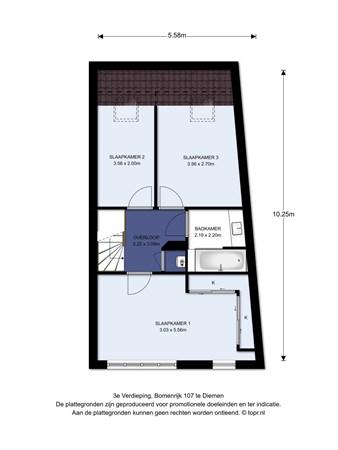 Floorplan - Bomenrijk 107, 1112 EM Diemen