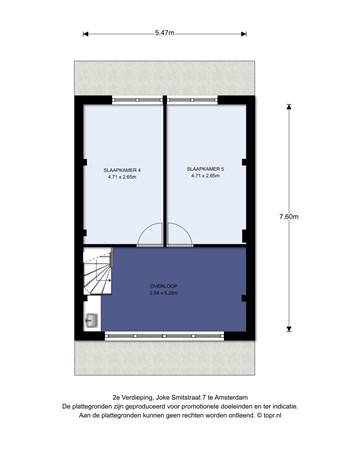 Floorplan - Joke Smitstraat 7, 1103 DD Amsterdam