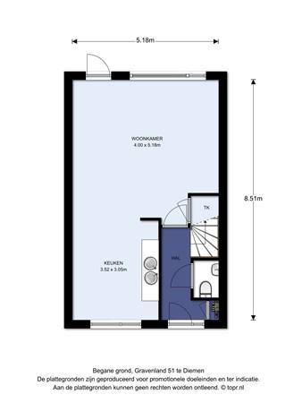 Floorplan - Gravenland 51, 1111 SL Diemen