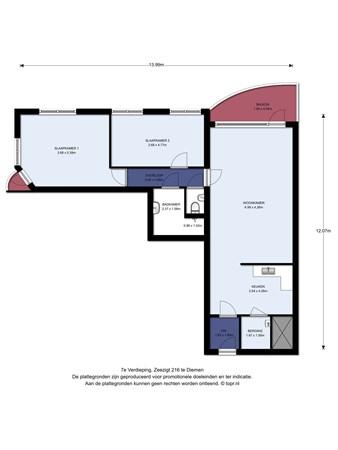 Floorplan - Zeezigt 216, 1111 TP Diemen