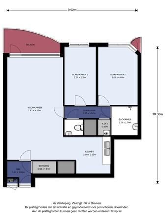 Floorplan - Zeezigt 166, 1111 TN Diemen