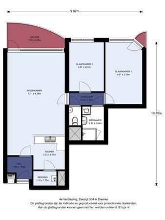 Floorplan - Zeezigt 304, 1111 TS Diemen