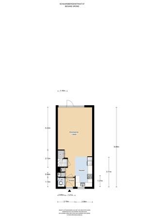 Floorplan - Schaarsbergenstraat 67, 1107 JT Amsterdam