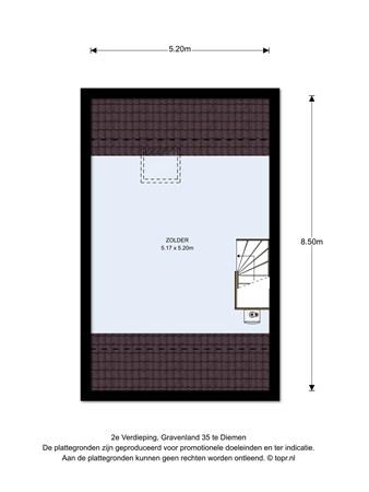 Floorplan - Gravenland 35, 1111 SK Diemen