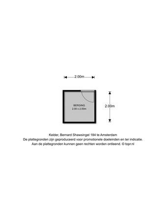 Floorplan - Bernard Shawsingel 184, 1102 VD Amsterdam