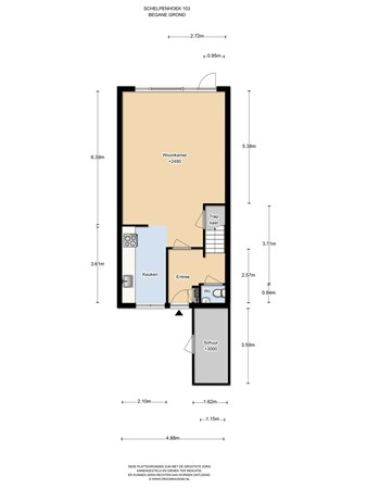 Floorplan - Schelpenhoek 103, 1112 DJ Diemen