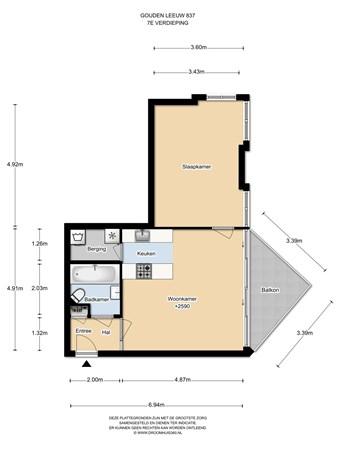 Floorplan - Gouden Leeuw 837, 1103 KT Amsterdam