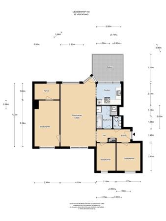Floorplan - Leusdenhof 193, 1108 DG Amsterdam