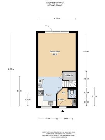 Floorplan - Jakop Slegthof 24, 1384 AC Weesp