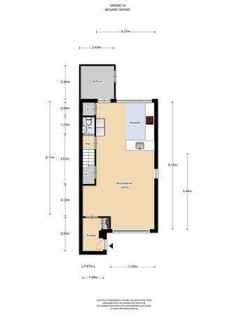 Floorplan - Griend 14, 1112 LD Diemen