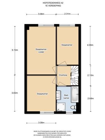 Floorplan - Hofstedenweg 42, 1111 SH Diemen