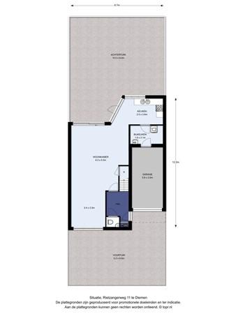 Floorplan - Rietzangerweg 11, 1111 VG Diemen