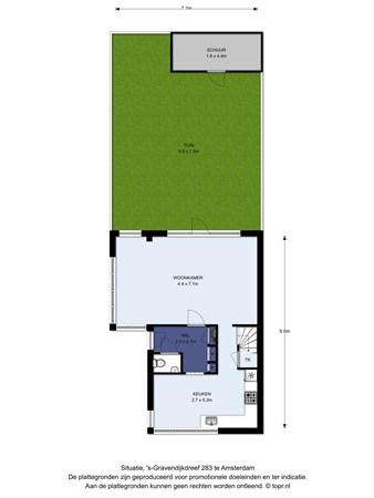 Floorplan - 's-Gravendijkdreef 283, 1104 DN Amsterdam