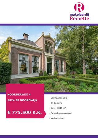 Brochure preview - Noorderweg 4, 9824 PB NOORDWIJK (1)