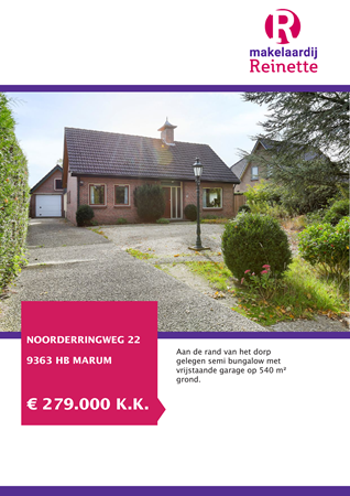 Brochure preview - Noorderringweg 22, 9363 HB MARUM (1)