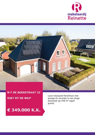 Brochure preview - W F de Boerstraat 32, 9367 RT DE WILP (1)