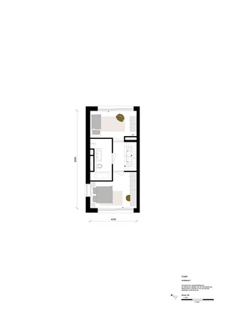 Floorplan - Rookmelderstraat 5, 1019 VS Amsterdam