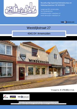 Brochure preview - Brochure Westdijkstraat 27, Arnemuiden.pdf